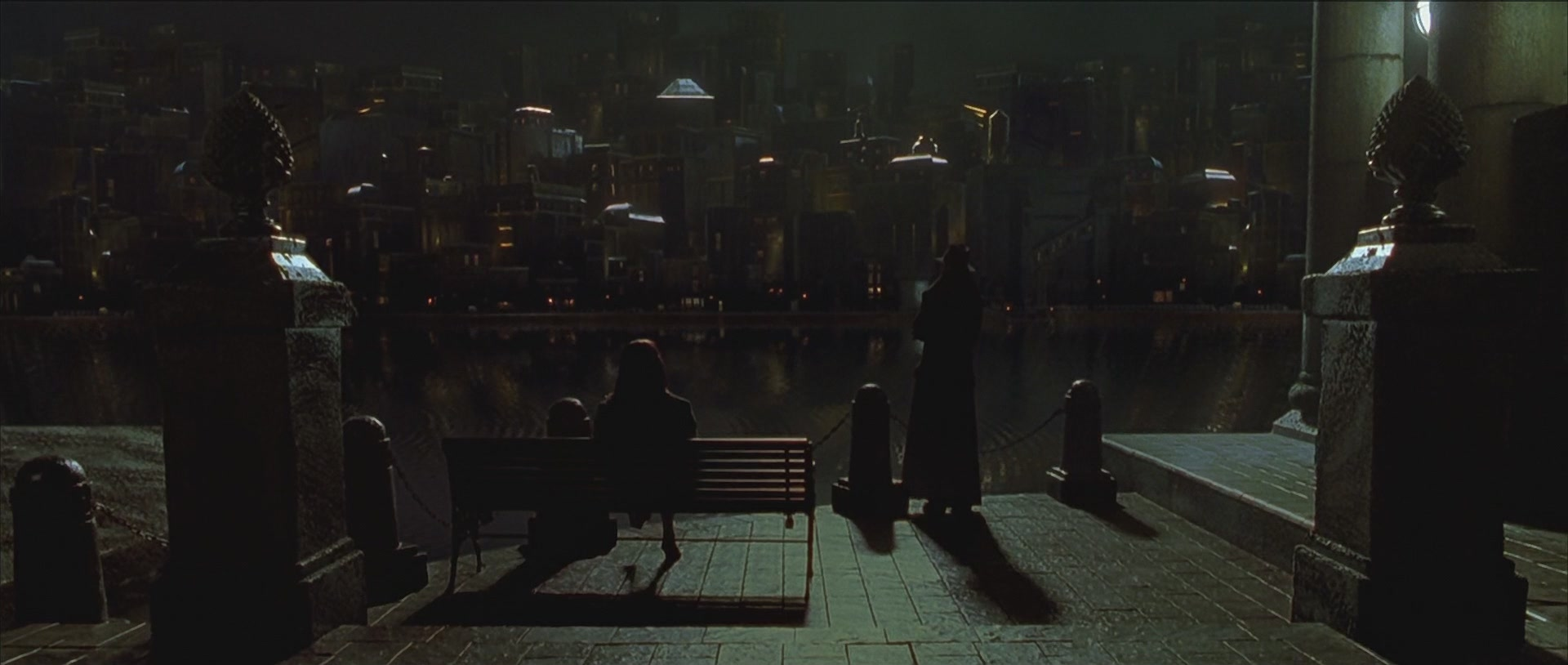 Cityscape and Skyline in Dark City, 1998, via Nir Shalev, Commentary Track, 2011